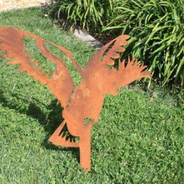 Aussie Steel Garden Cockatoo