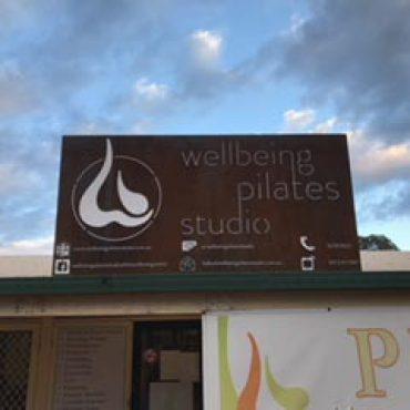 Laser Cut Wellbeing Pilates Studio Metal Sign