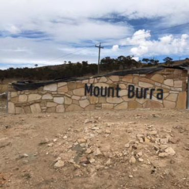 Laser Cut Mount Burra Metal Sign