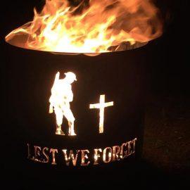Aussie fire bucket lest we forget