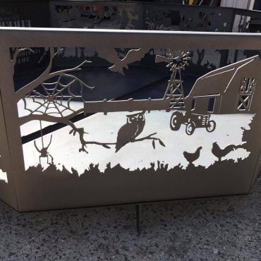 Welcome Fire Pit - Owl Panel