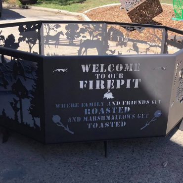 Welcome Firepit Steel Fabrication Australia