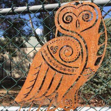 Laser Cut Metal Owl Decor
