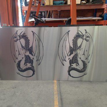 Dragon Design Laser-cut Metal Screen