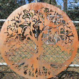 Laser Cut Metal Tree Panel