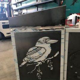 Kookaburra Laser-cut Metal Screen