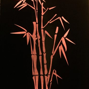 Orange Bamboo Metal Garden Light Box Australia