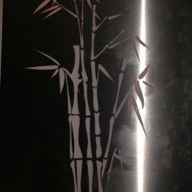 Silver Coloured Bamboo Design - Metal Garden Light Box Australia